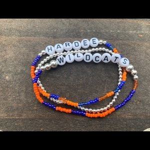 Personalized bead bracelets stack of 3